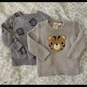 2 Baby boy sweaters x $15 (ZARA & Old Navy)